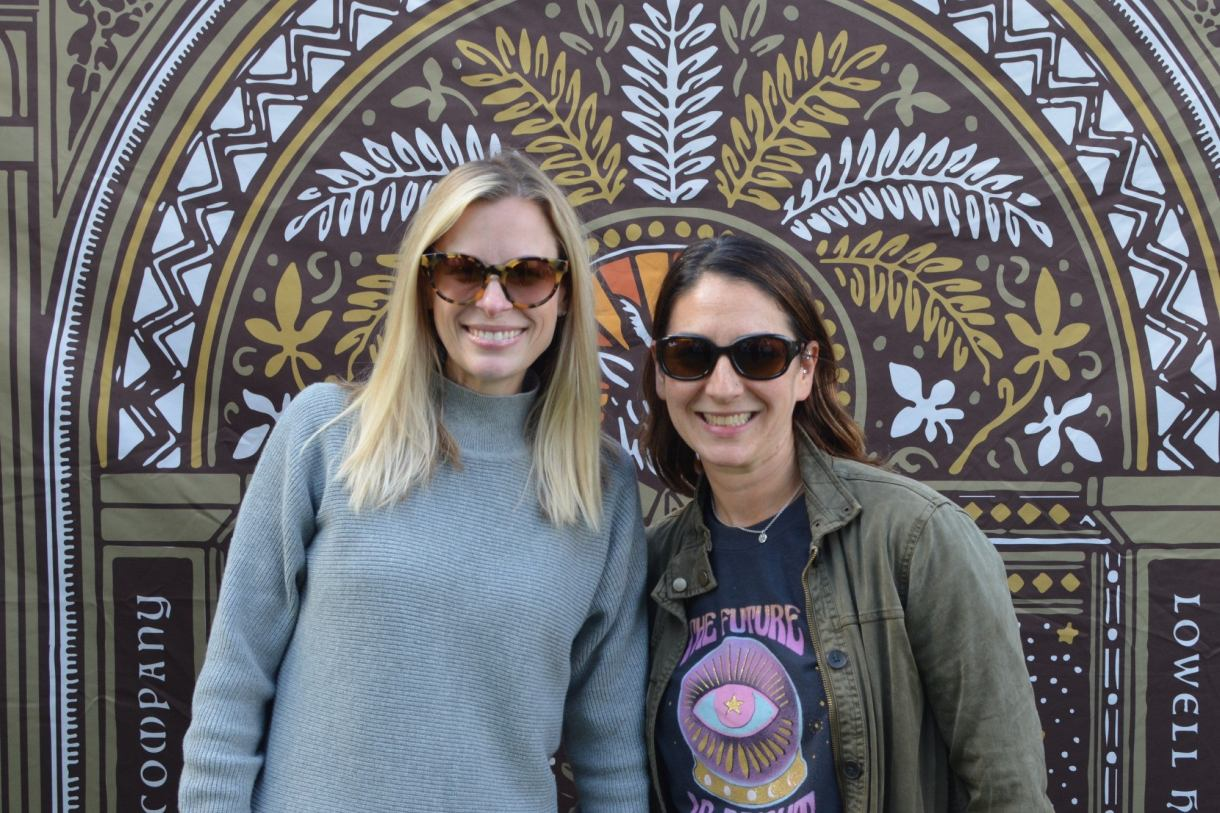 The co-owners of CBD company Reed's Remedies at the CBD Saturday Farmers Market. (Image credit: Lindsey Bartlett/Green Entrepreneur)