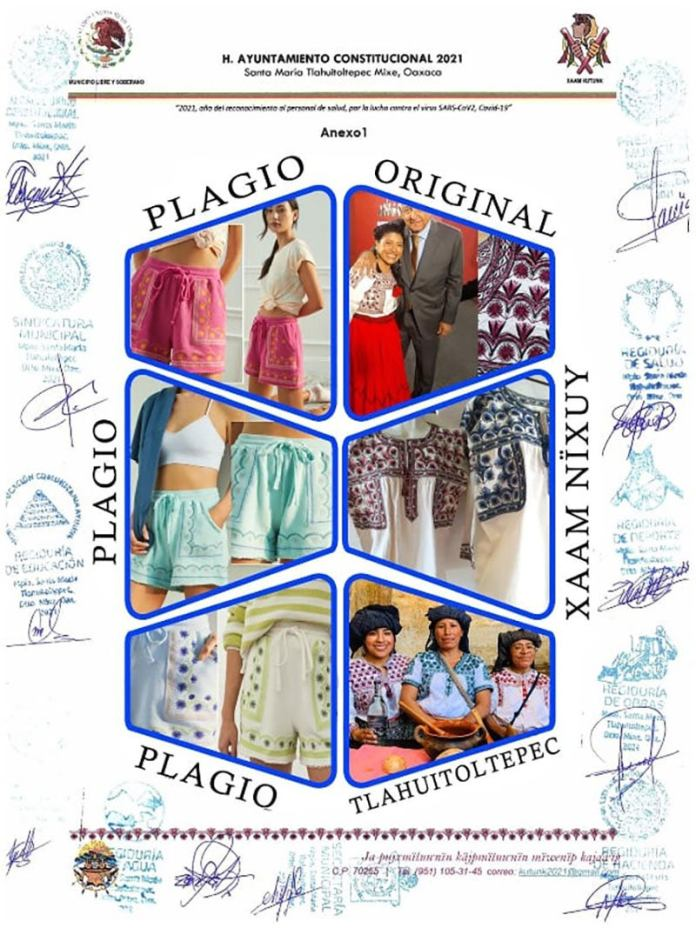 1625852253 Plagio Mexico Denounces That The American Brand Anthropologie Plagiarizes Mixed Designs For The Second Time