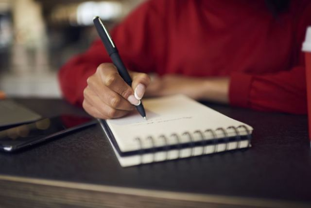 Write out your to-do list the night before.