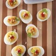 Red-Hot Buffalo Deviled Eggs / Kathy Casey Food Studios