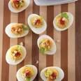 Red-Hot Buffalo Deviled Eggs / Kathy Casey Food Studios