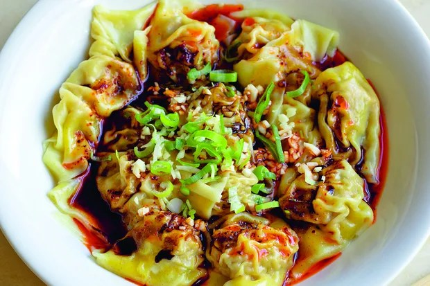 Sichuanese Wontons in Chilli Oil Sauce / Photo by Chris Terry