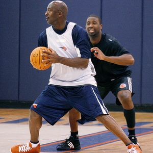 Michael Jordan at Bobcats' Practice