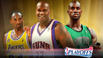 NBA Playoffs Shaq Garnett Kobe