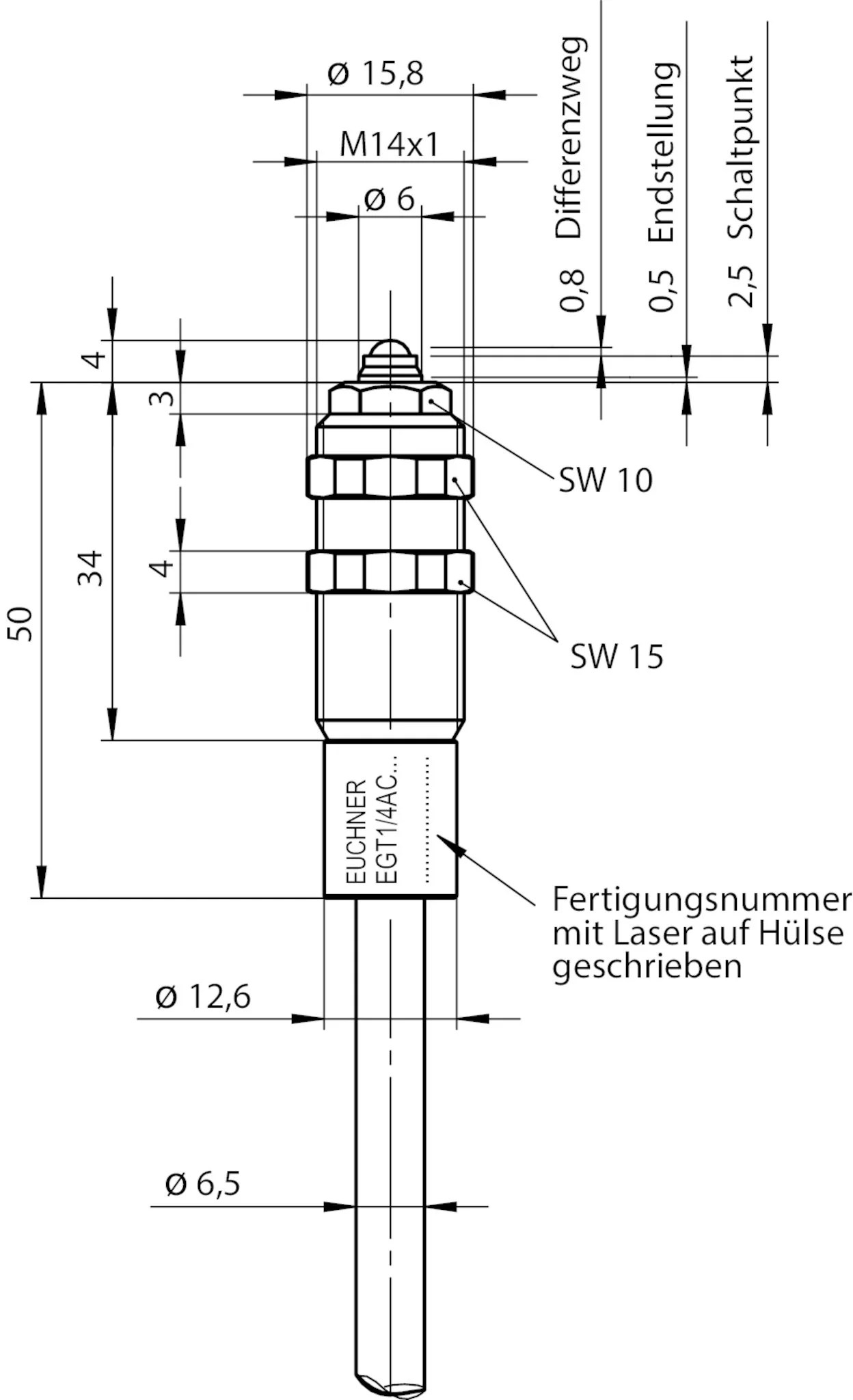 Egt1 4a C Precision Single Hole Fixing Limit Switch