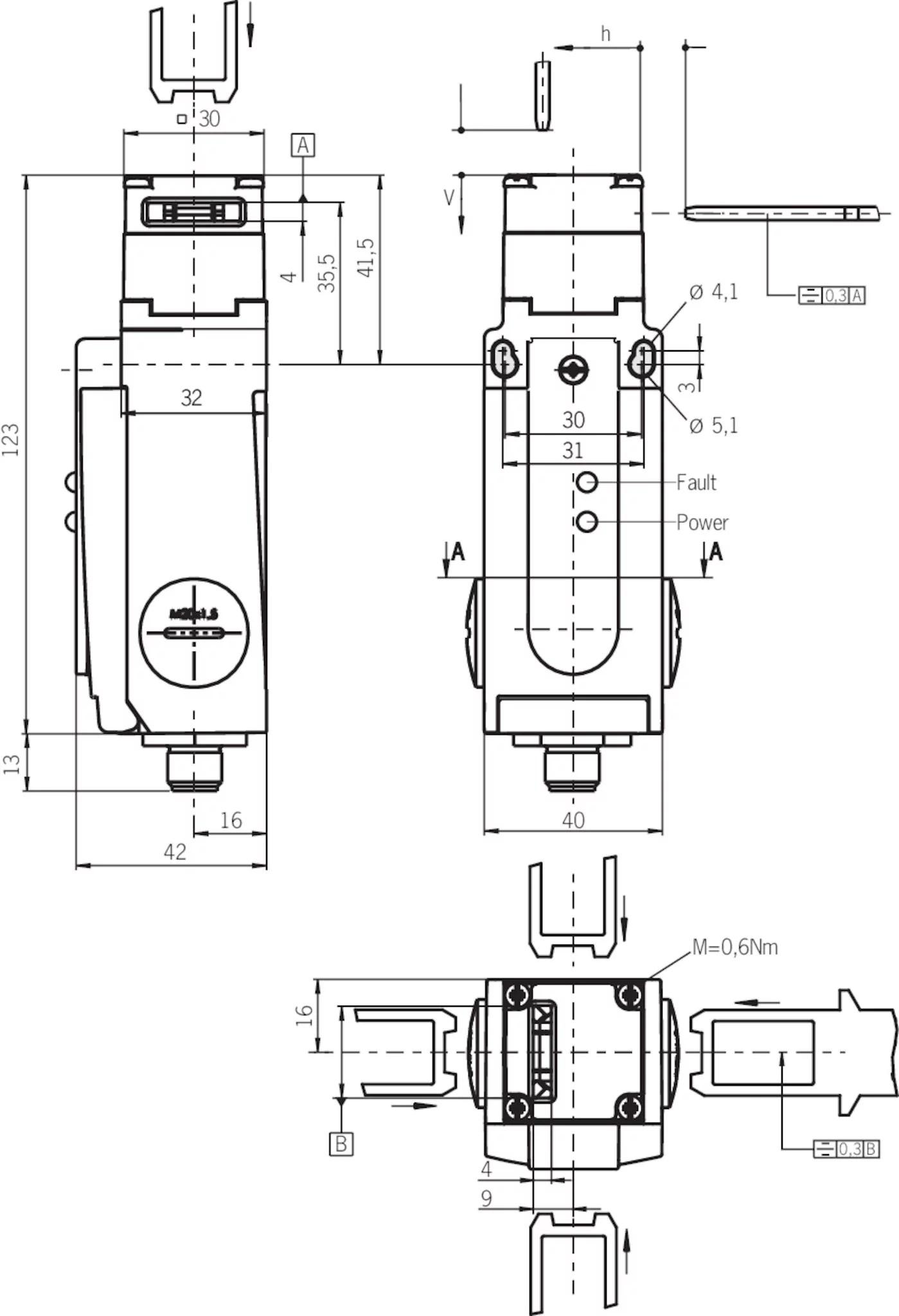 Sgp3e 538asem4as1l Safety Switch Sgp Asi Plug Connector