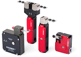 Electromechanical safety switches with guard locking