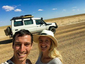 Sandra and Peter travelling Australia