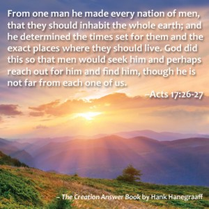 Acts 17 bible verse: from one man he made every nation of men