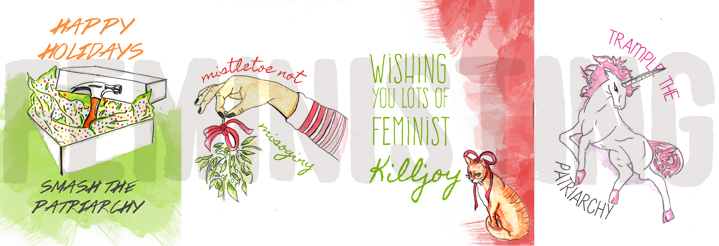 Feministing's 2014 holiday e-cards