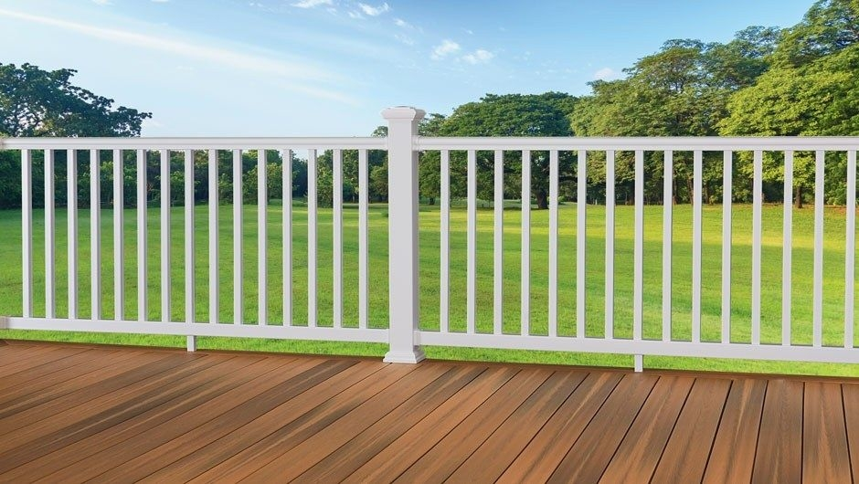 Armorguard Railing Fiberon Composite Deck Railing Stocked At The | Outside Stair Railing Home Depot | Aluminum Balusters | Wood | Rail Kit | Hand Rail | Stair Parts