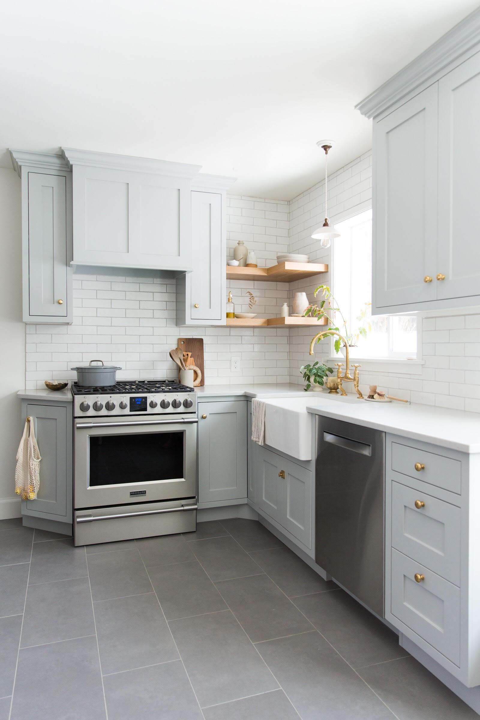 tinge floral olympic brick kitchen