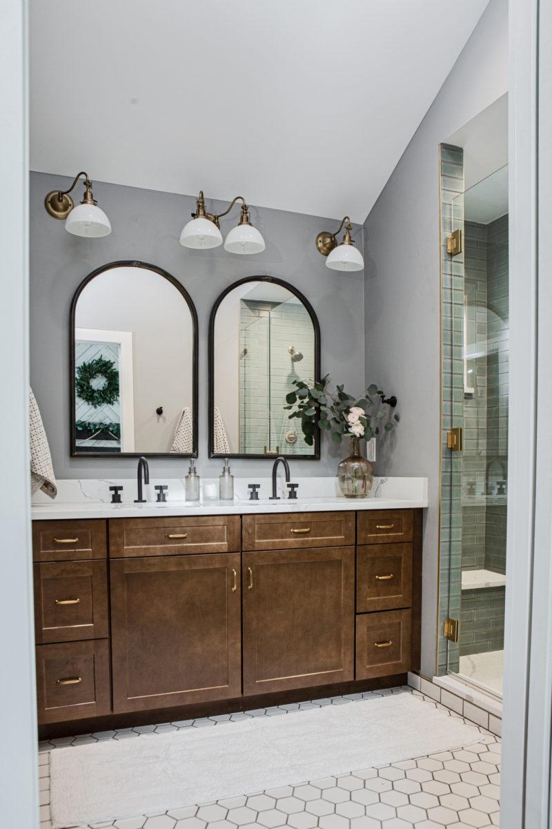 Hexagon Floor Tile Bathroom in Classic White | Fireclay Tile
