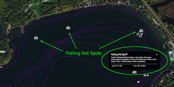 Access fishing hot spots as a premium subscriber on Fishidy.