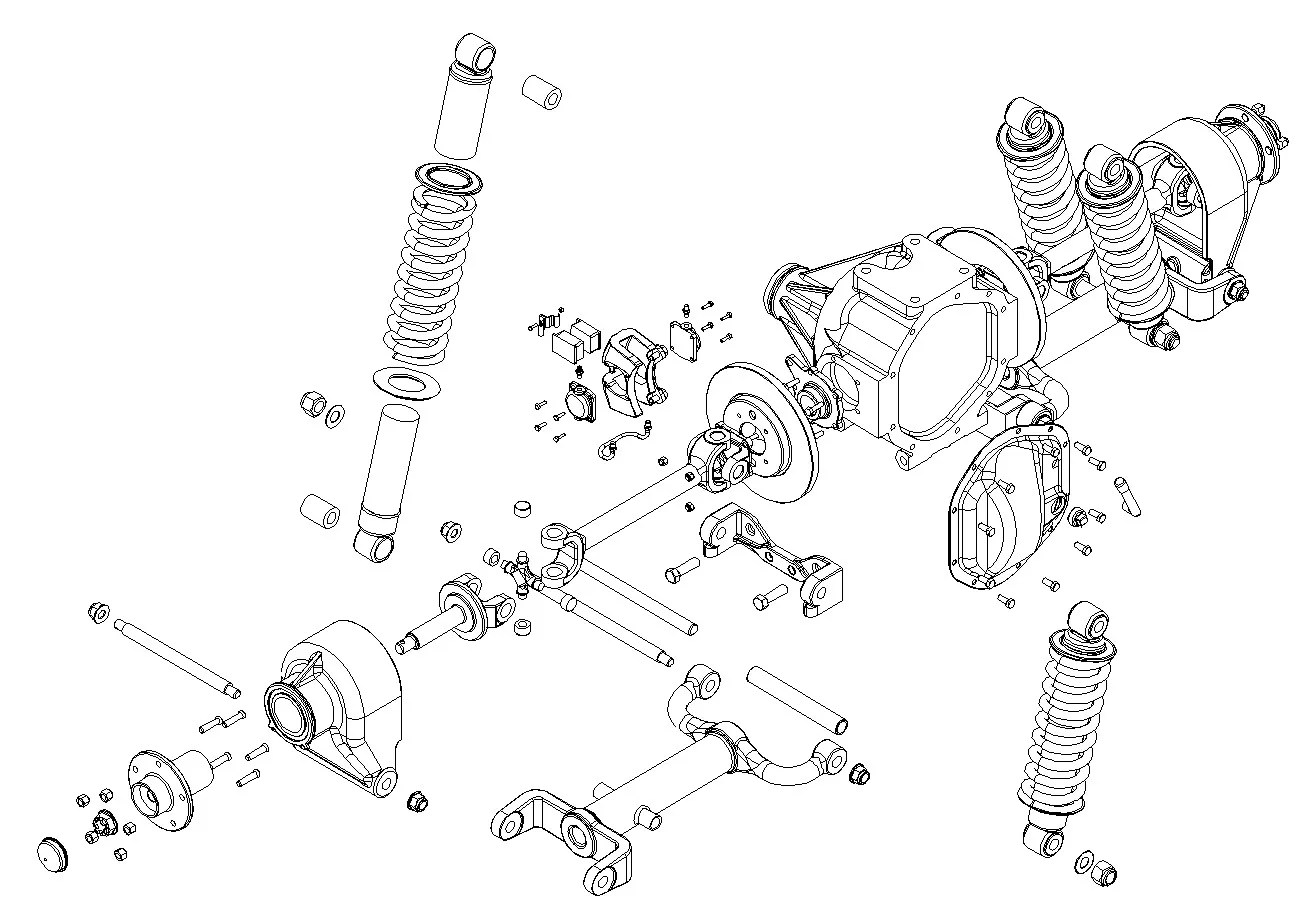Jaguar Rear Suspension 3d Model Buy Jaguar Rear