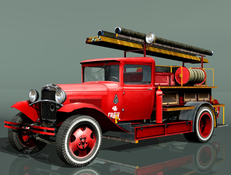 Fire Truck Type Pmg 1 3d Model Buy Fire Truck Type Pmg 1