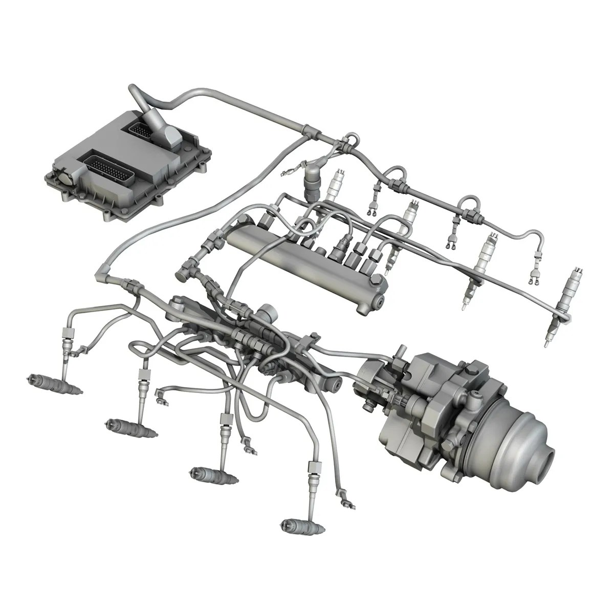 Injection System Of A V8 Engine 3d Model Buy Injection System Of A V8 Engine 3d Model