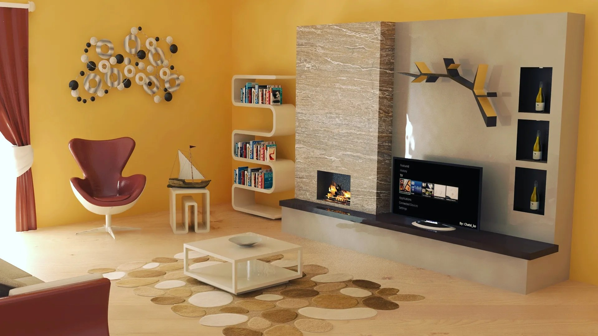 Furniture Design Living Room 3d