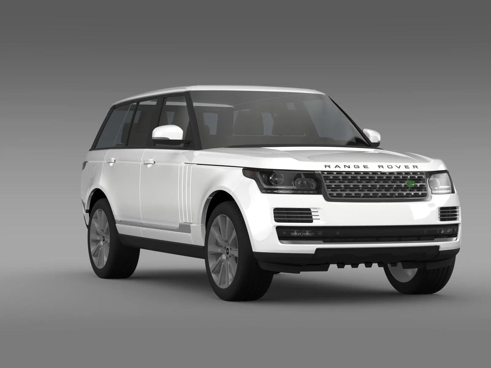Range Rover Vogue SE SDV8 L405 3d Model Vehicles 3d Models