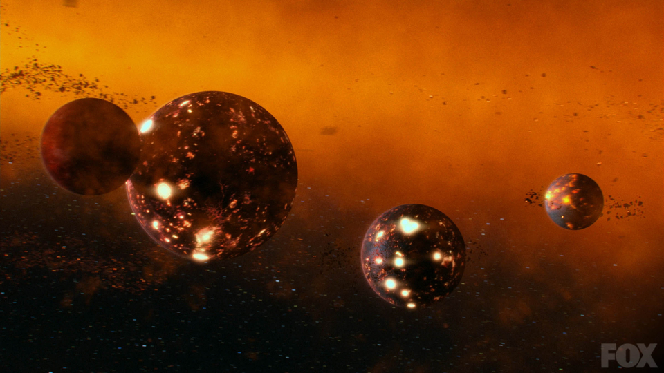 The planets are formed from dust, via Fox