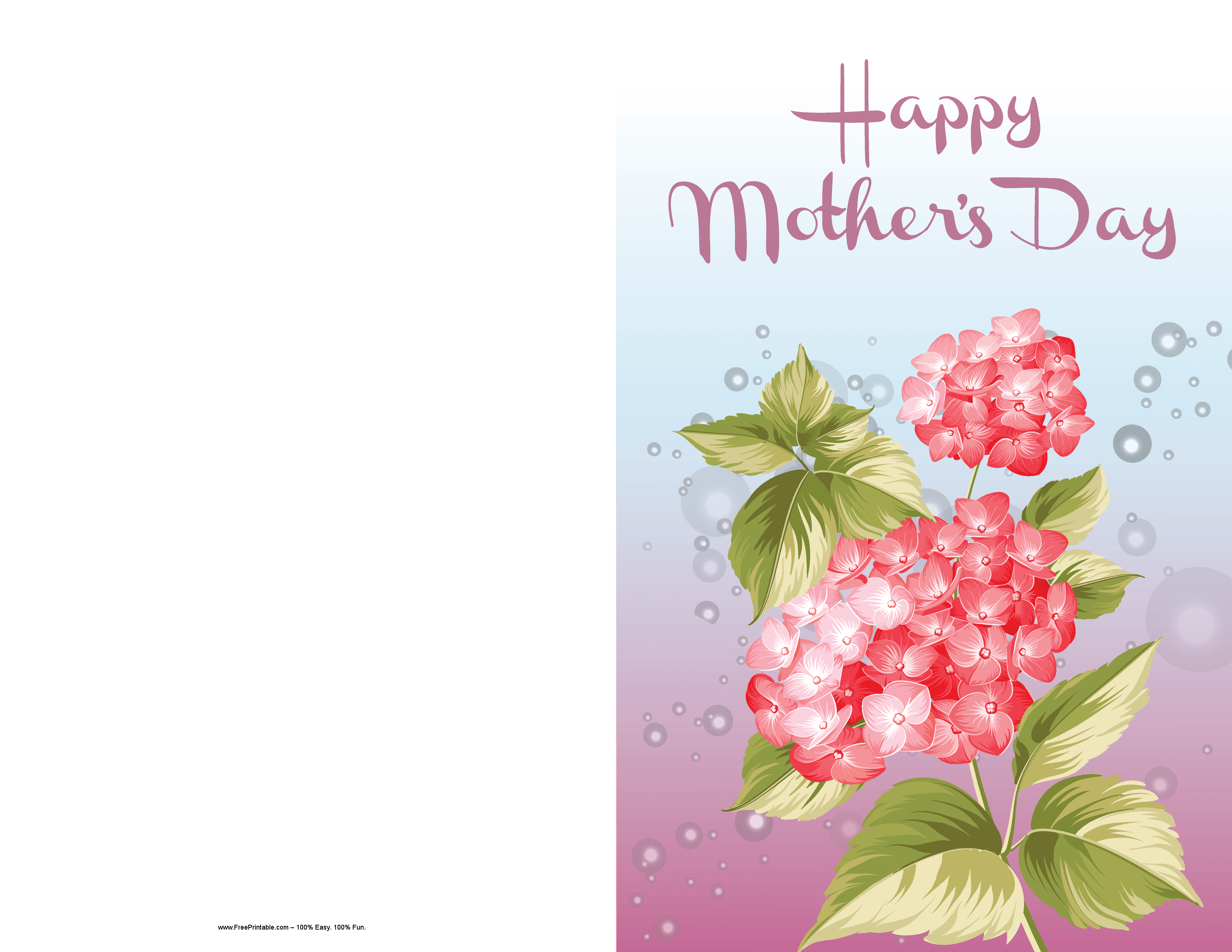 Customize Your Free Printable Mother S Day Pink Flower Card