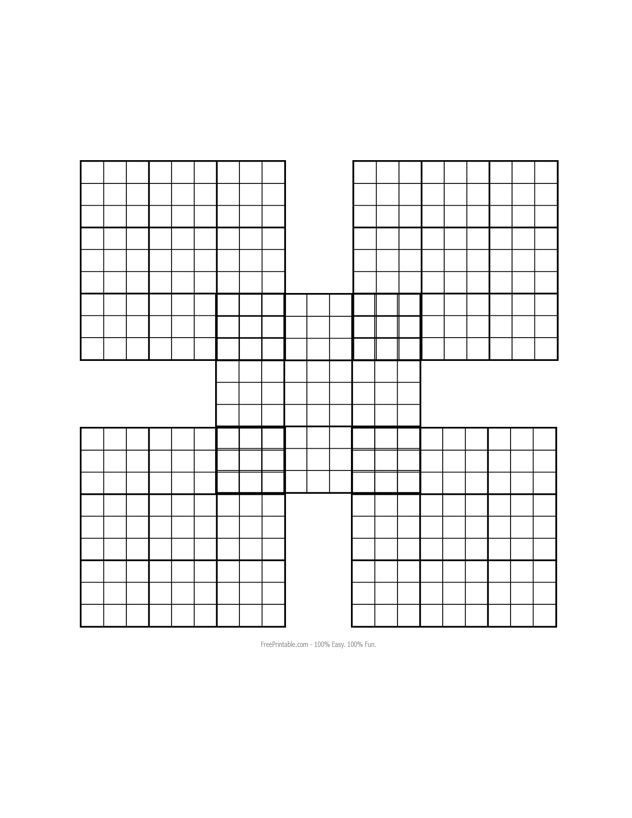 Blank Sudoku Printable Worksheets