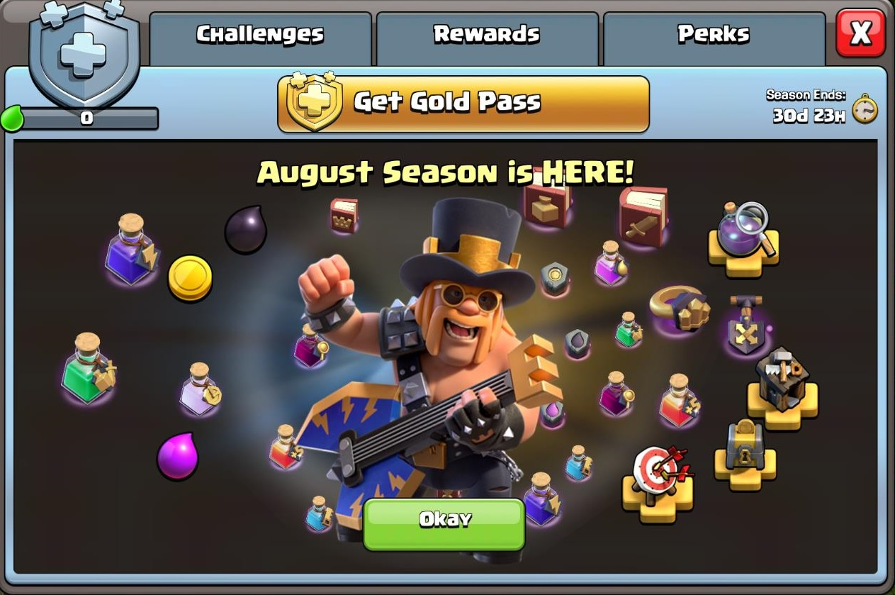 What S In The August 2020 Gold Pass In Clash Of Clans Gamepur