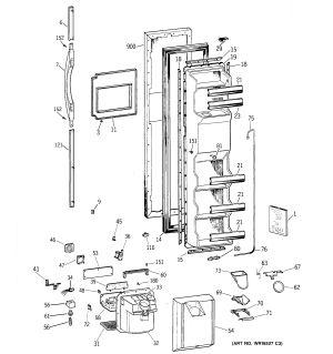 Assembly View for FREEZER DOOR | TFX26KPDAAA
