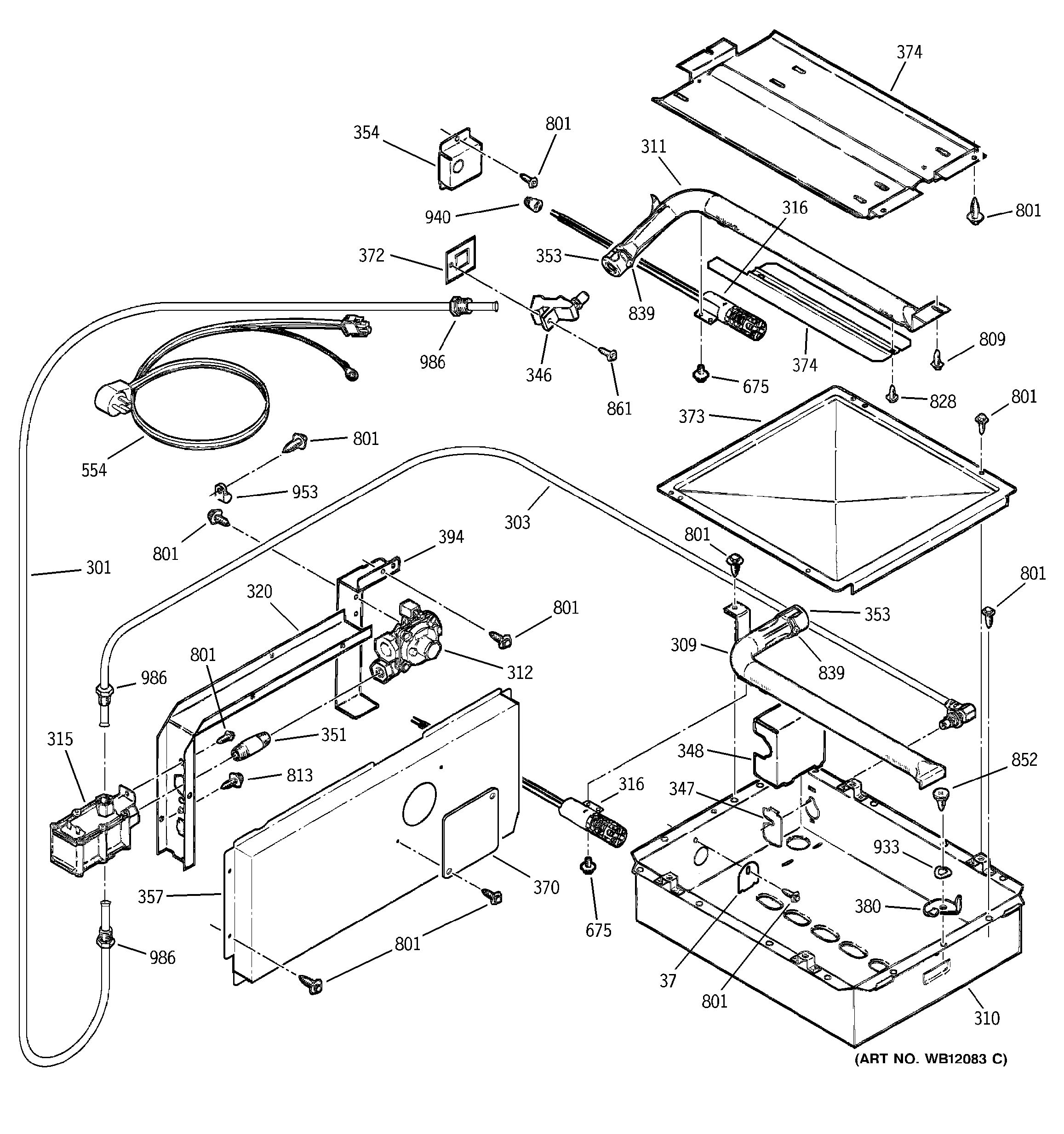 Assembly View For Burner Parts