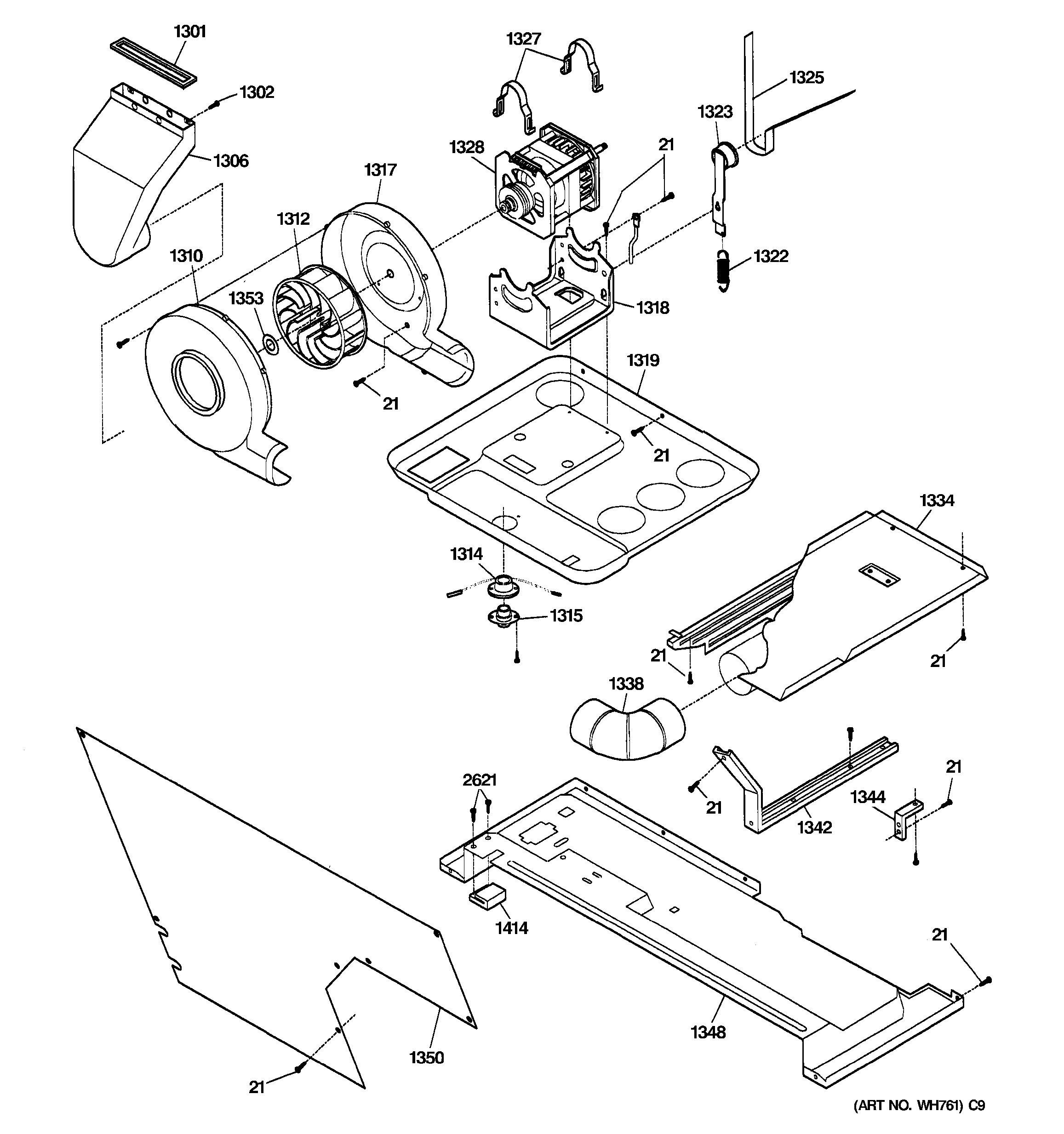 Assembly View For Dryer Motor Blower Amp Belt