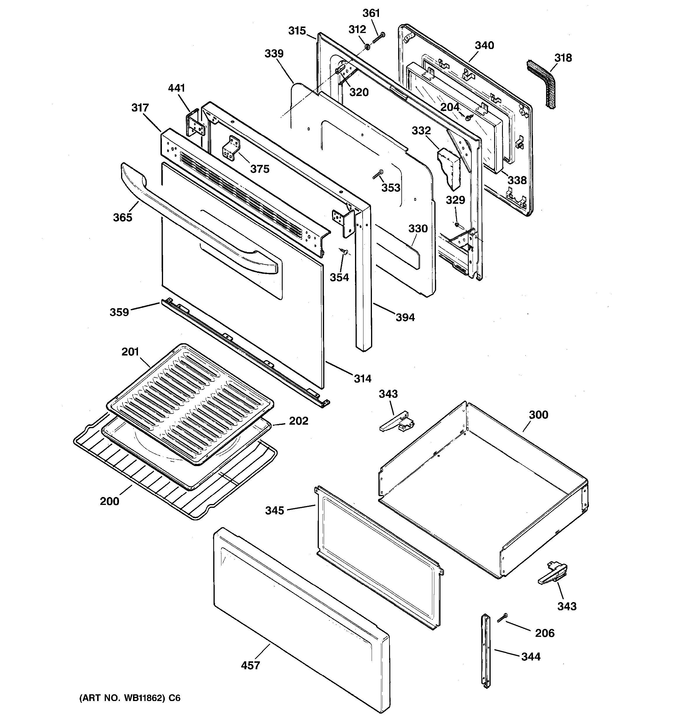 Jkp15 Electric Oven Door Lock Parts Diagram