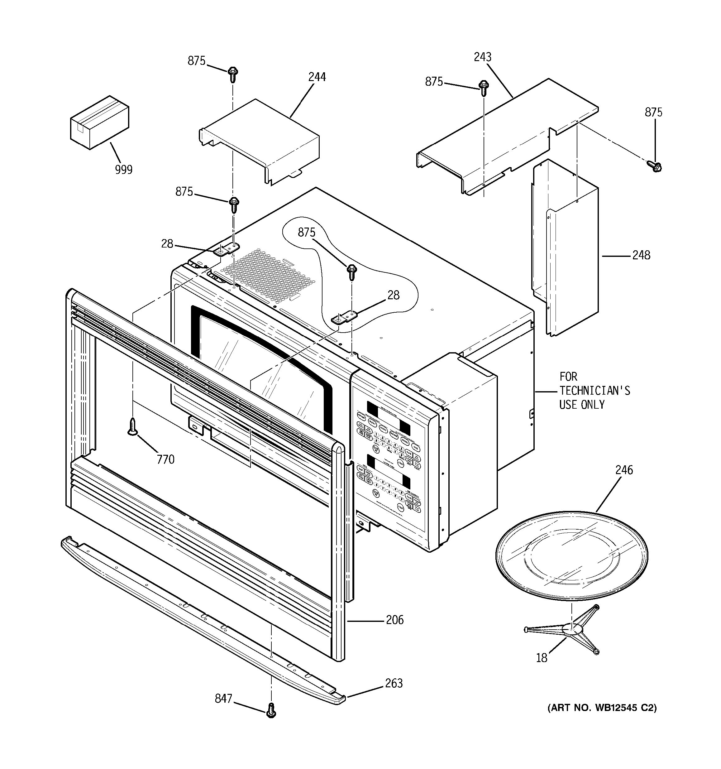Assembly View For Microwave Enclosure