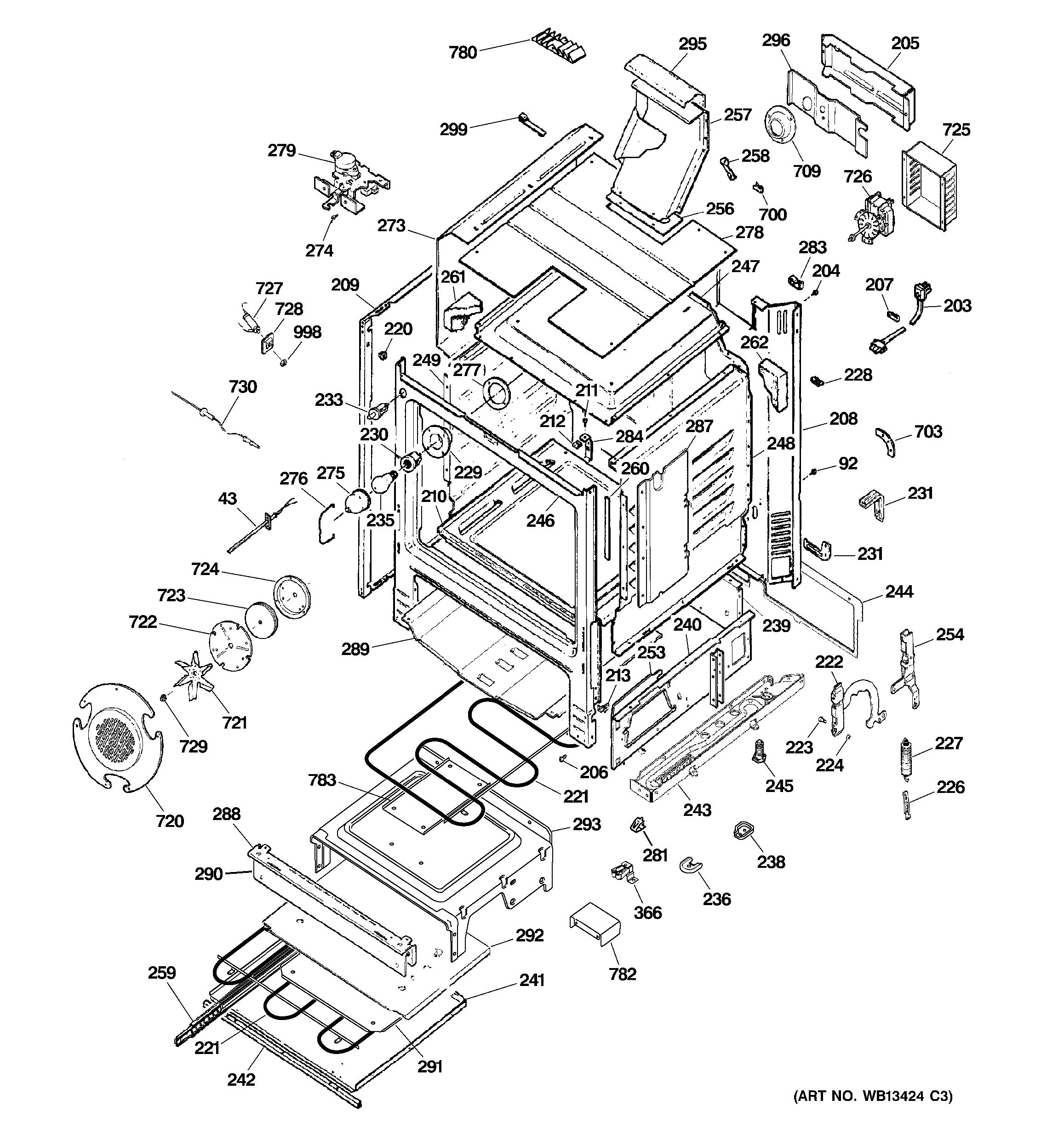 Assembly View For Body Parts