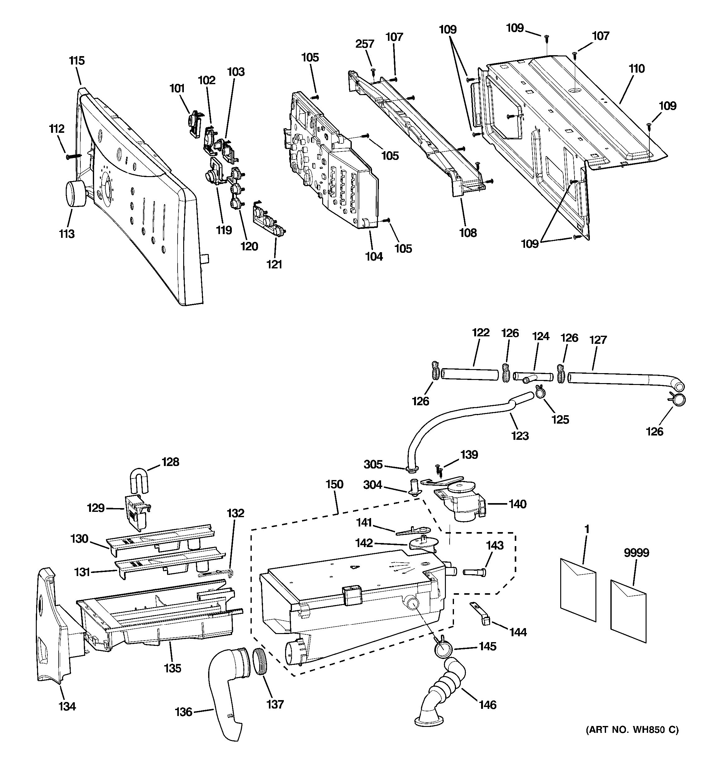 Assembly View For Controls Amp Dispenser