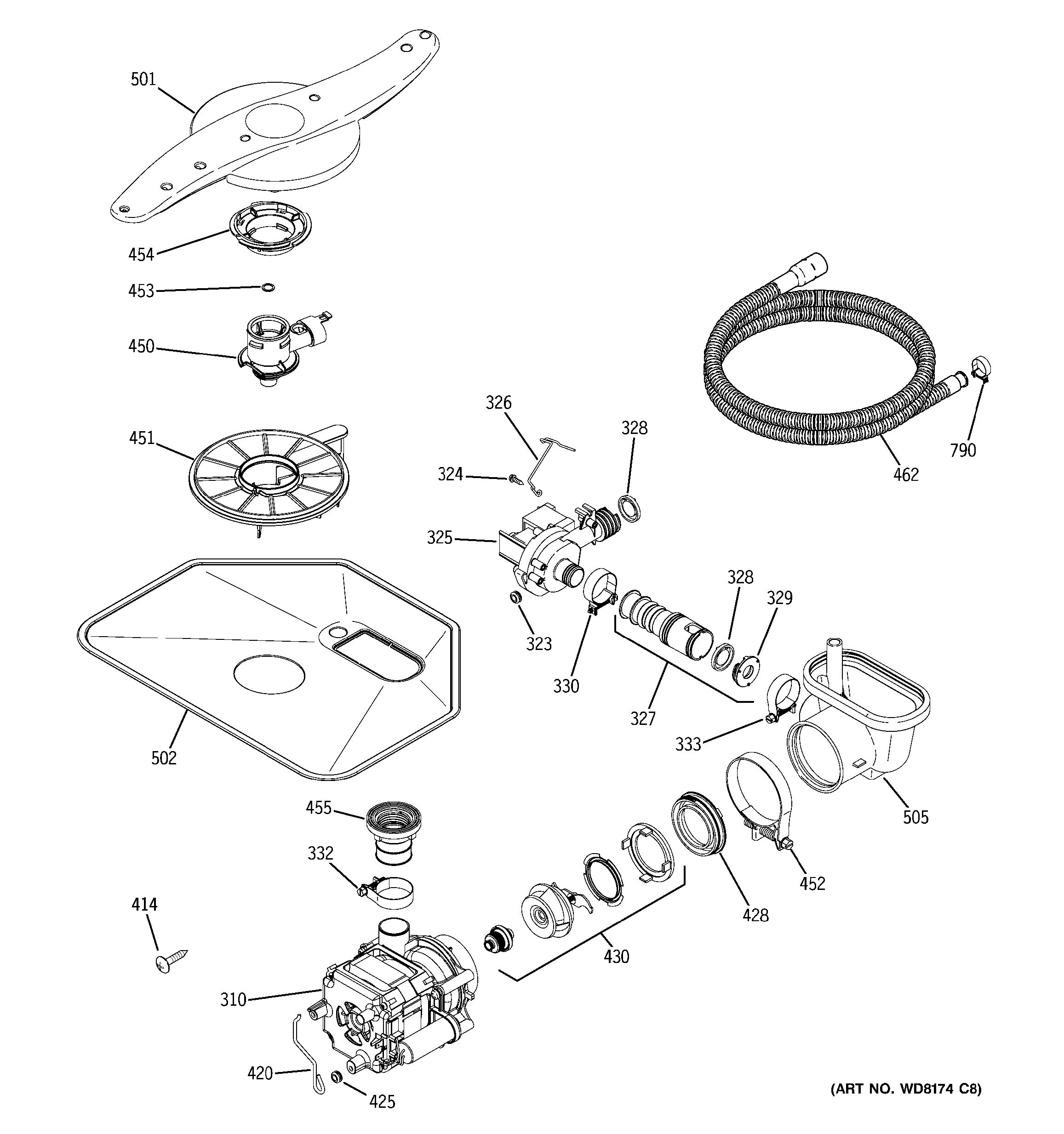 Assembly View For Motor Pump Mechanism