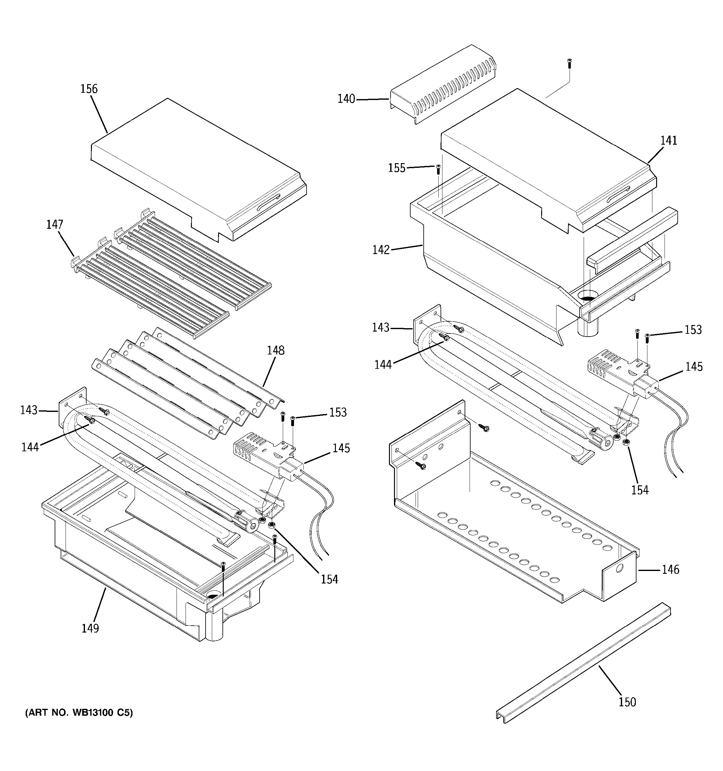 Assembly View For Grill Amp Griddle Assembly