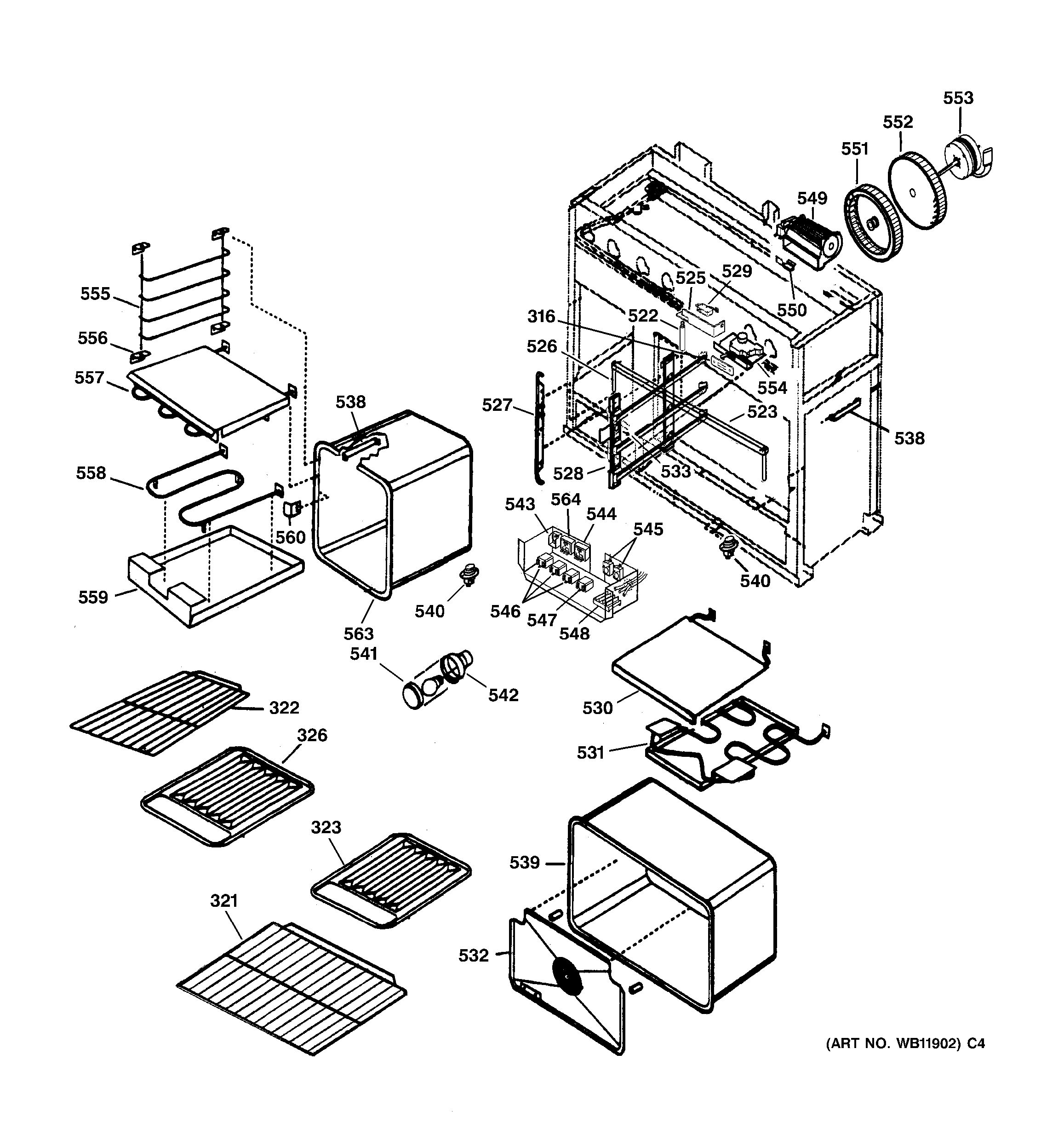 Assembly View For Oven Assembly