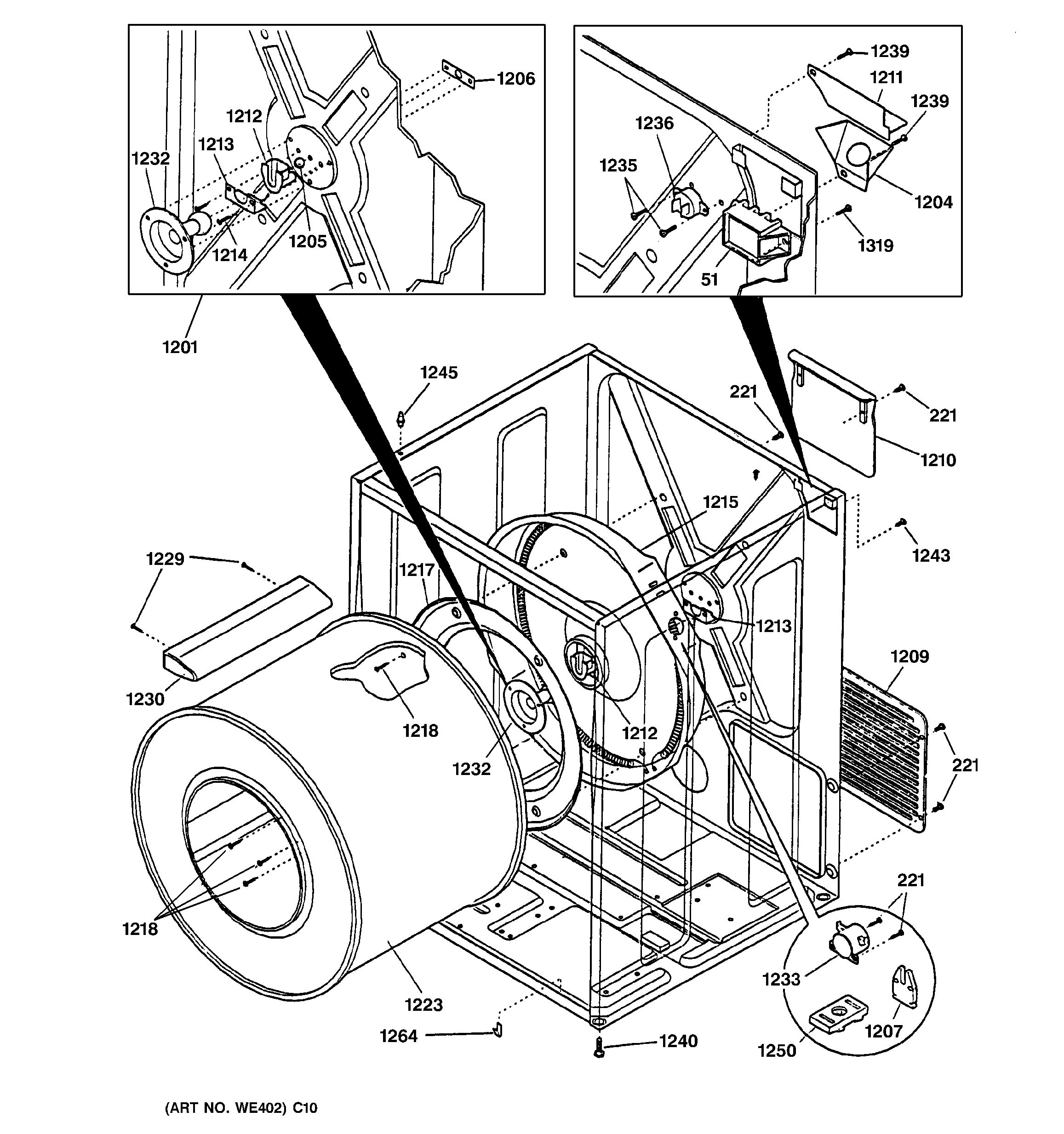 Assembly View For Cabinet Amp Drum