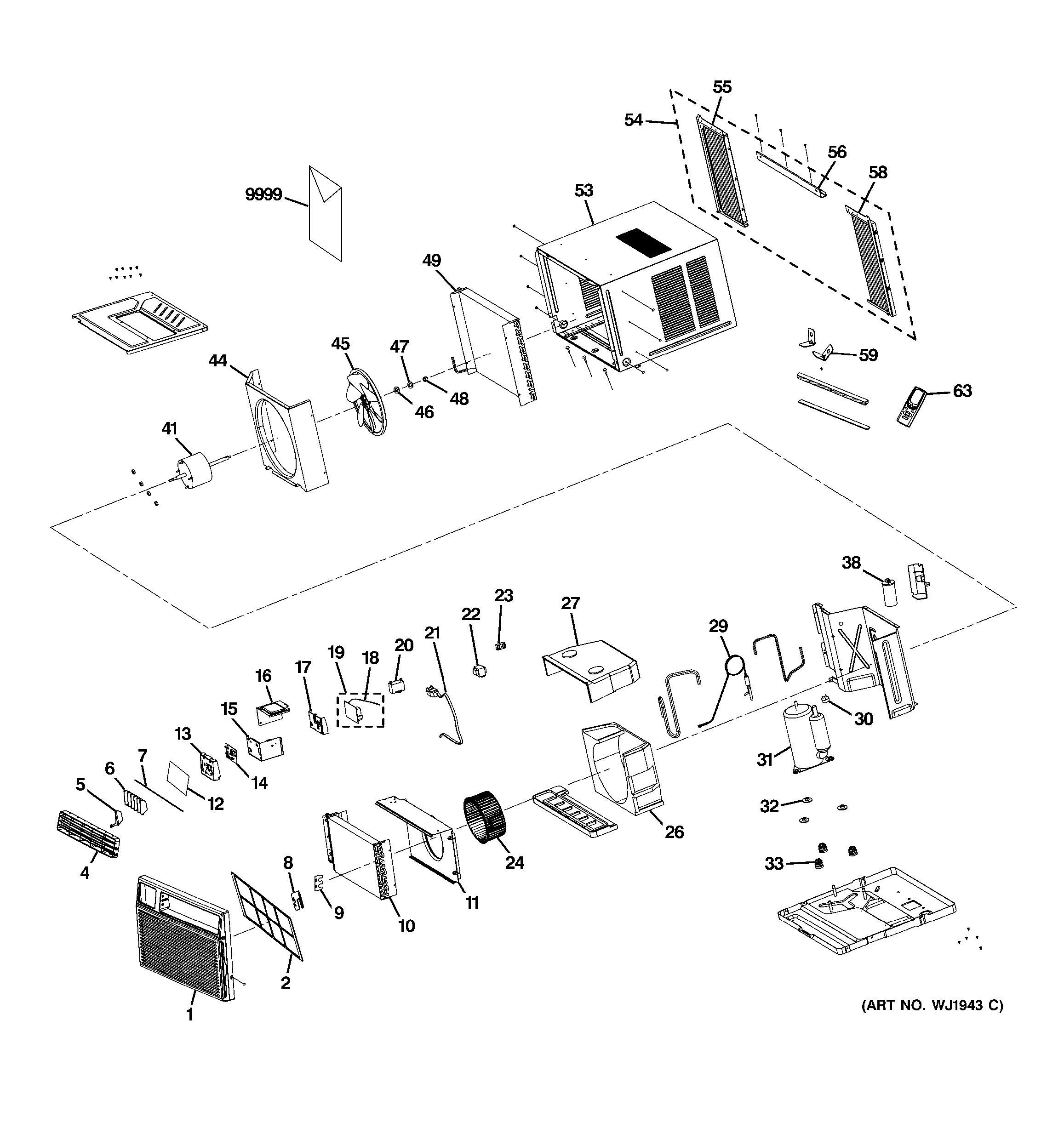 Ge Room Air Conditioner Parts Diagrams Wiring Diagram Images
