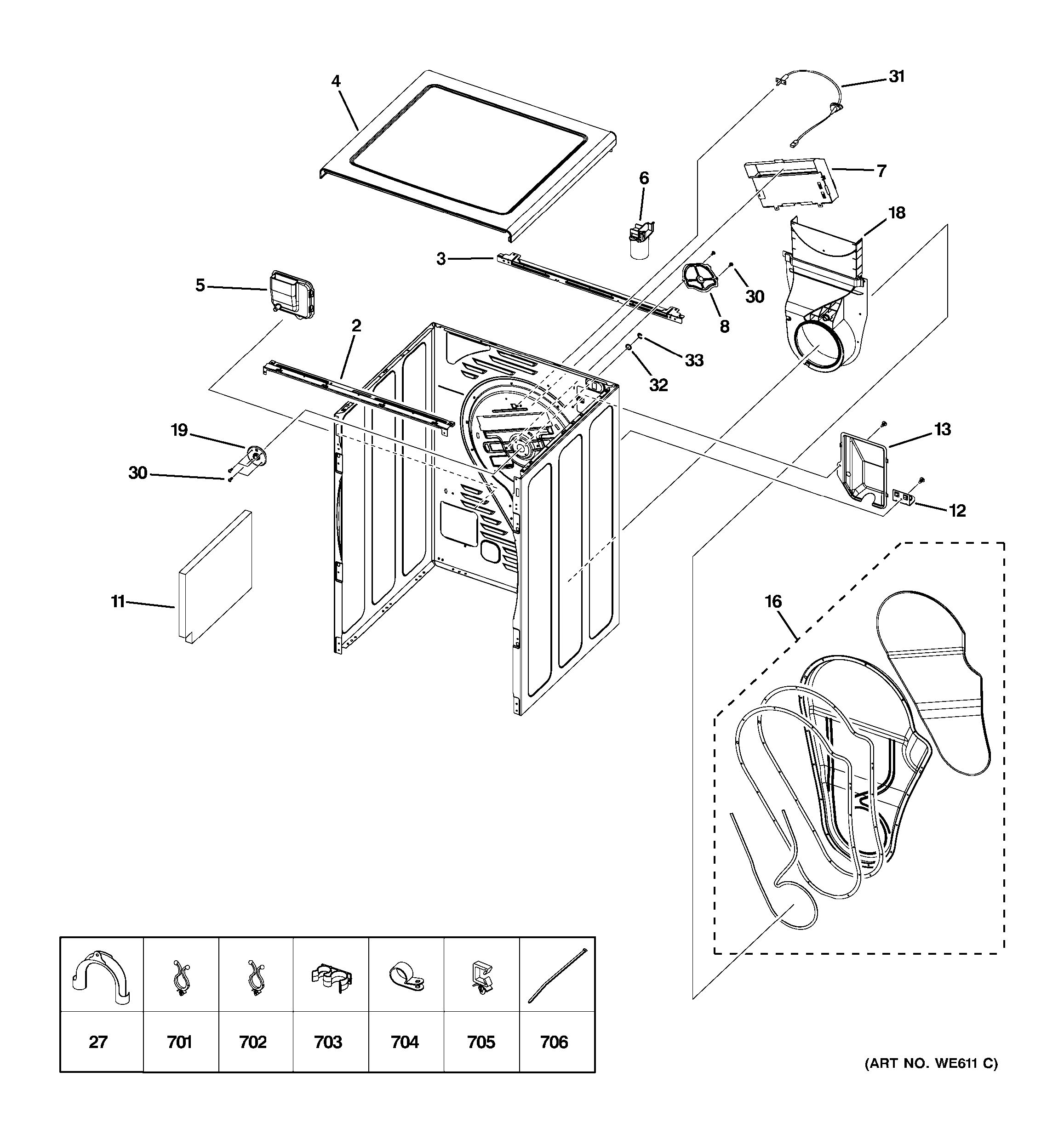 Assembly View For Cabinet Amp Top Panel