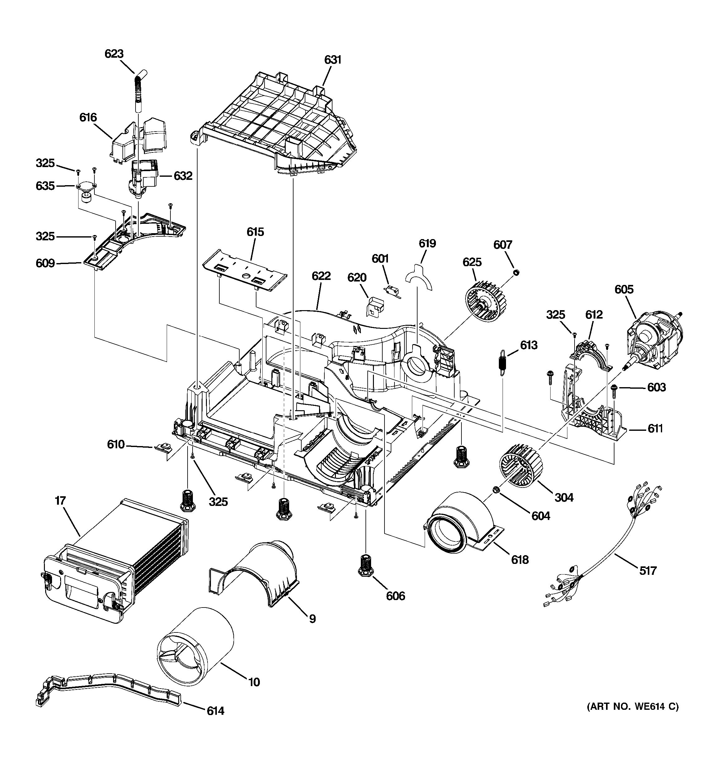 Assembly View For Motor Amp Blower Assembly