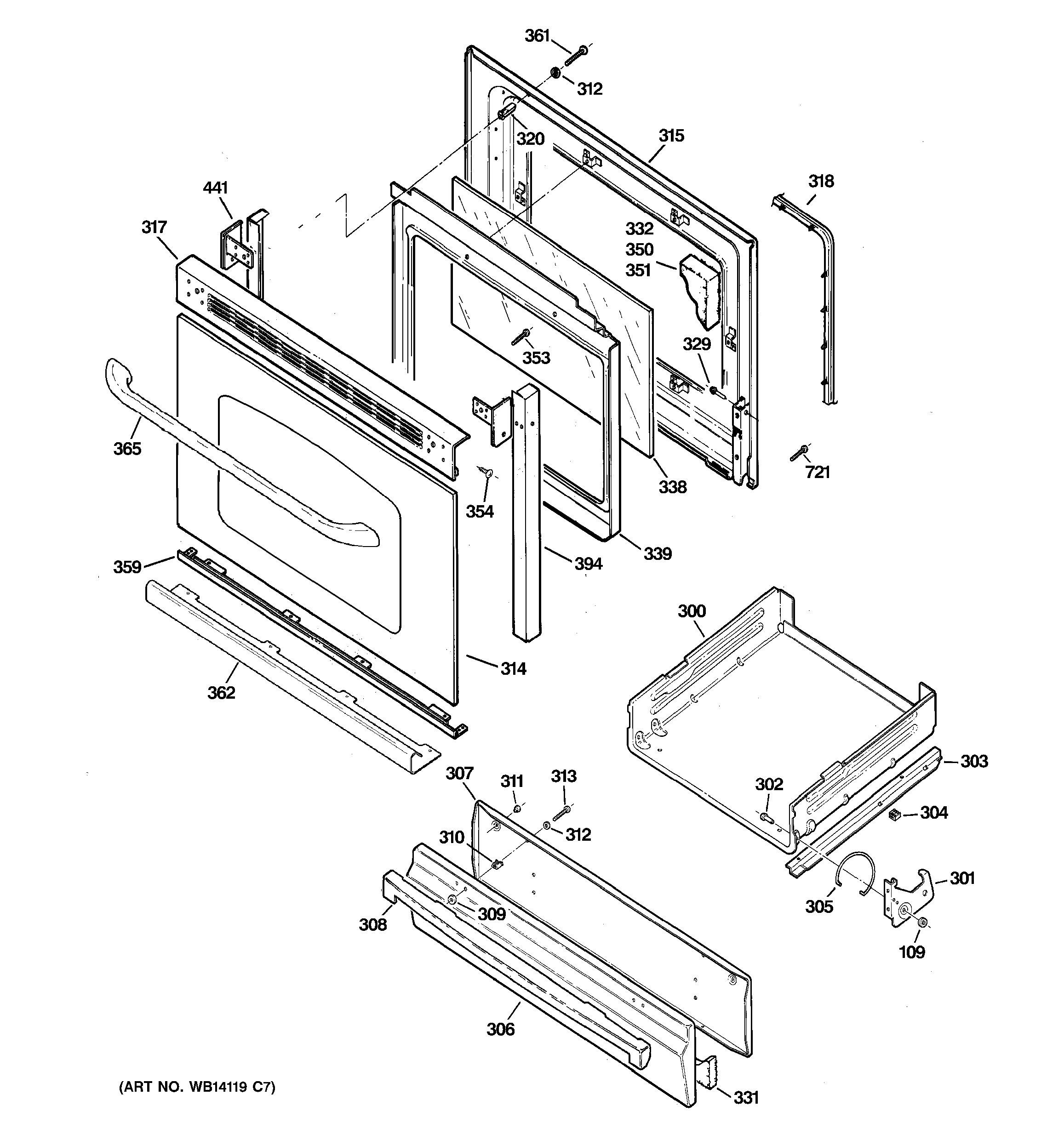 Assembly View For Door Amp Drawer Parts