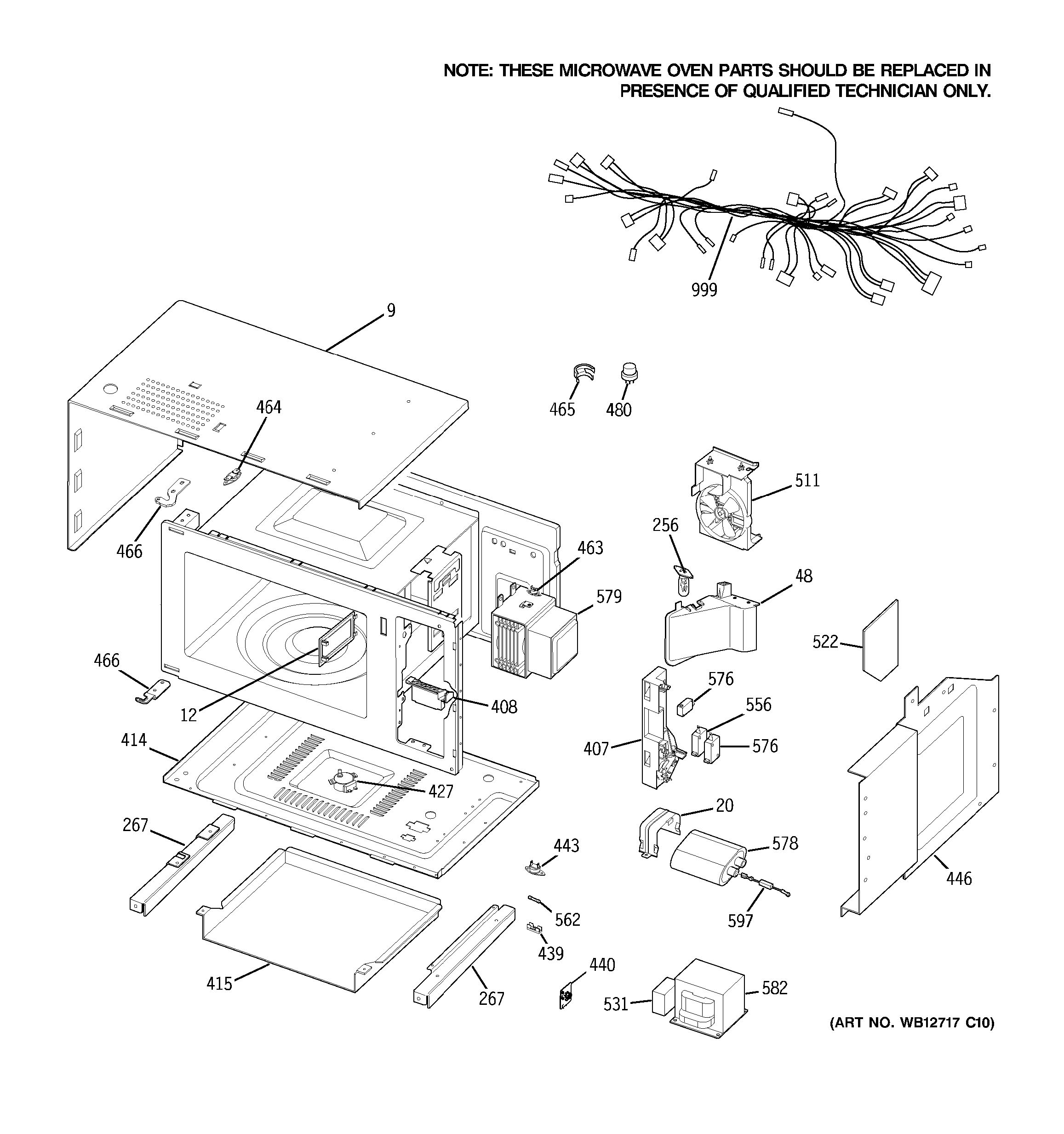 Assembly View For Microwave Body Parts