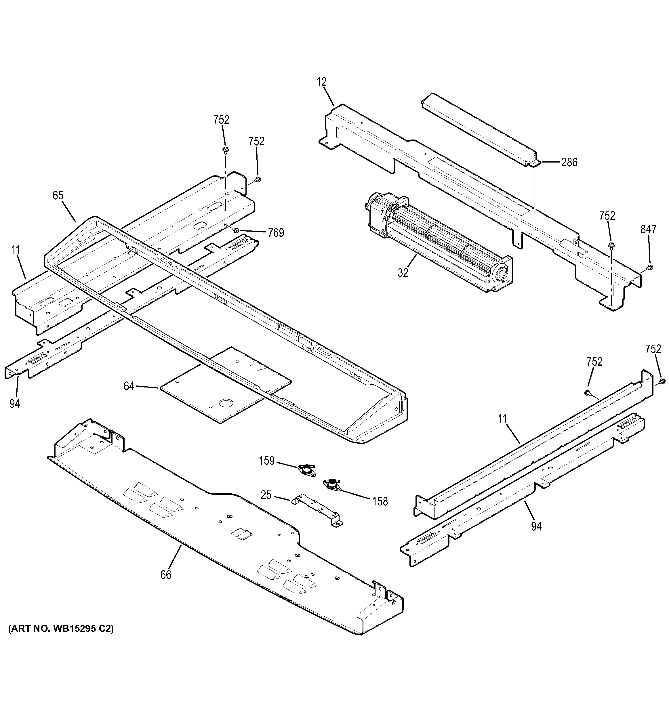 Assembly View For Cooling Fan