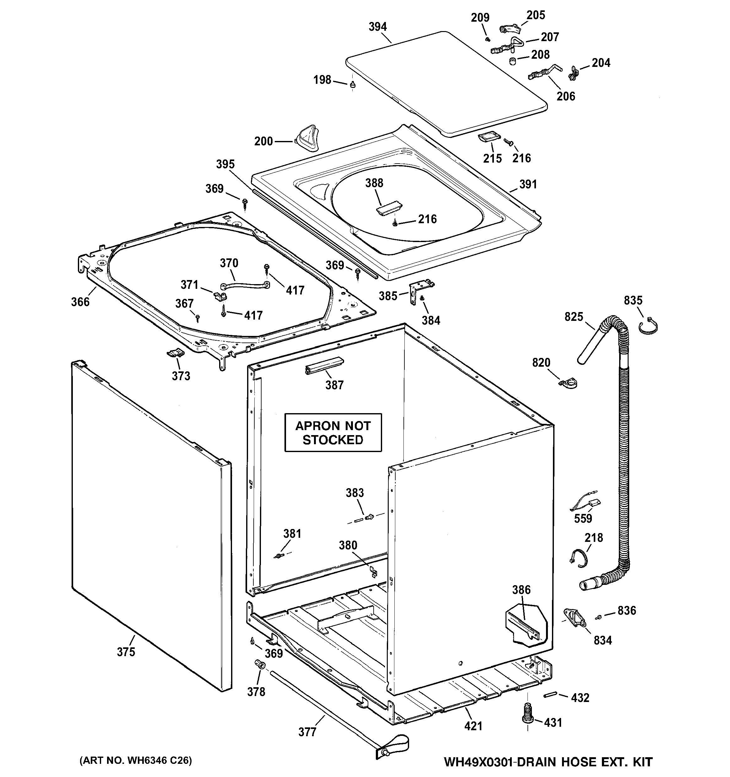 Assembly View For Cabinet Cover Amp Front Panel