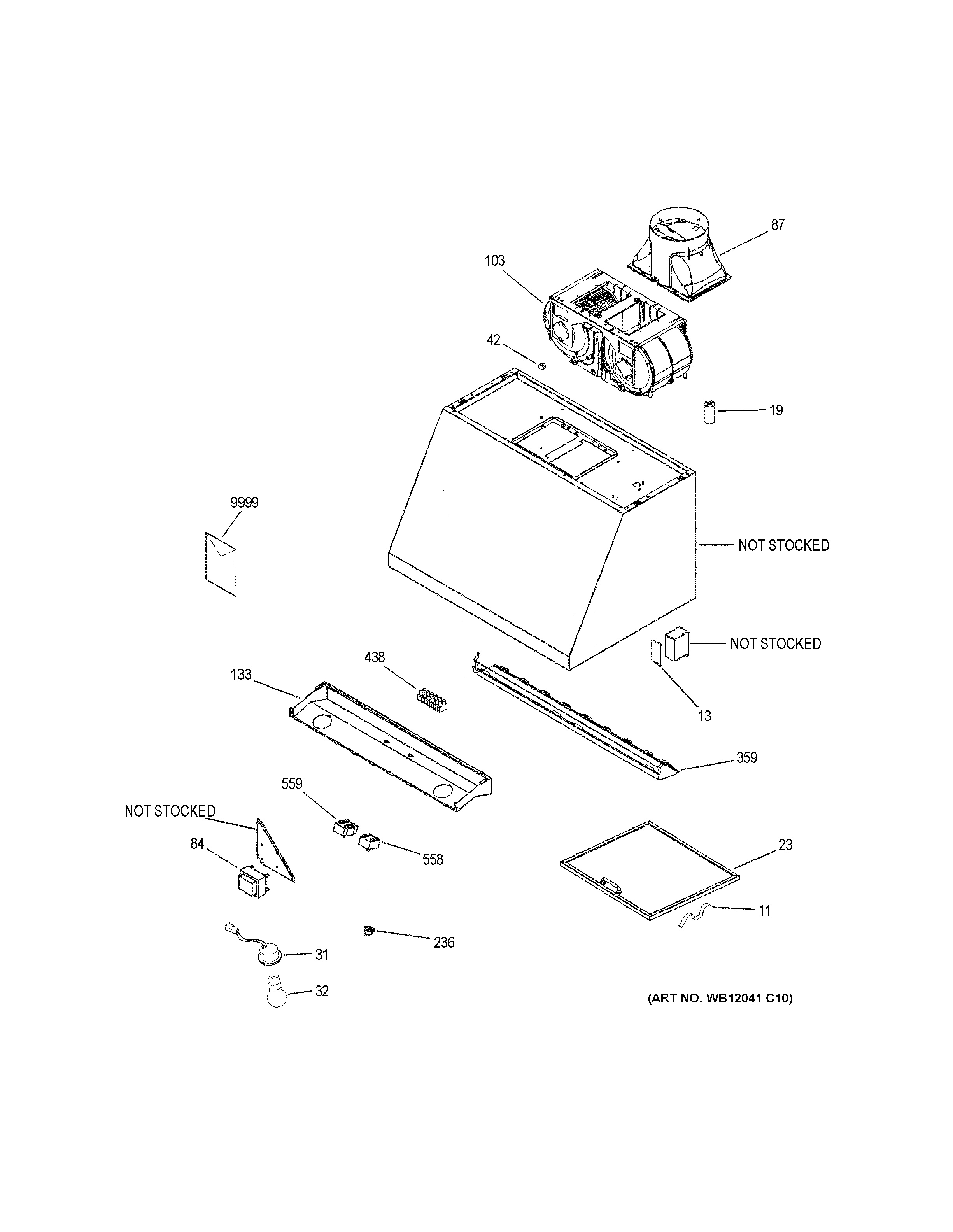 Assembly View For Range Hood