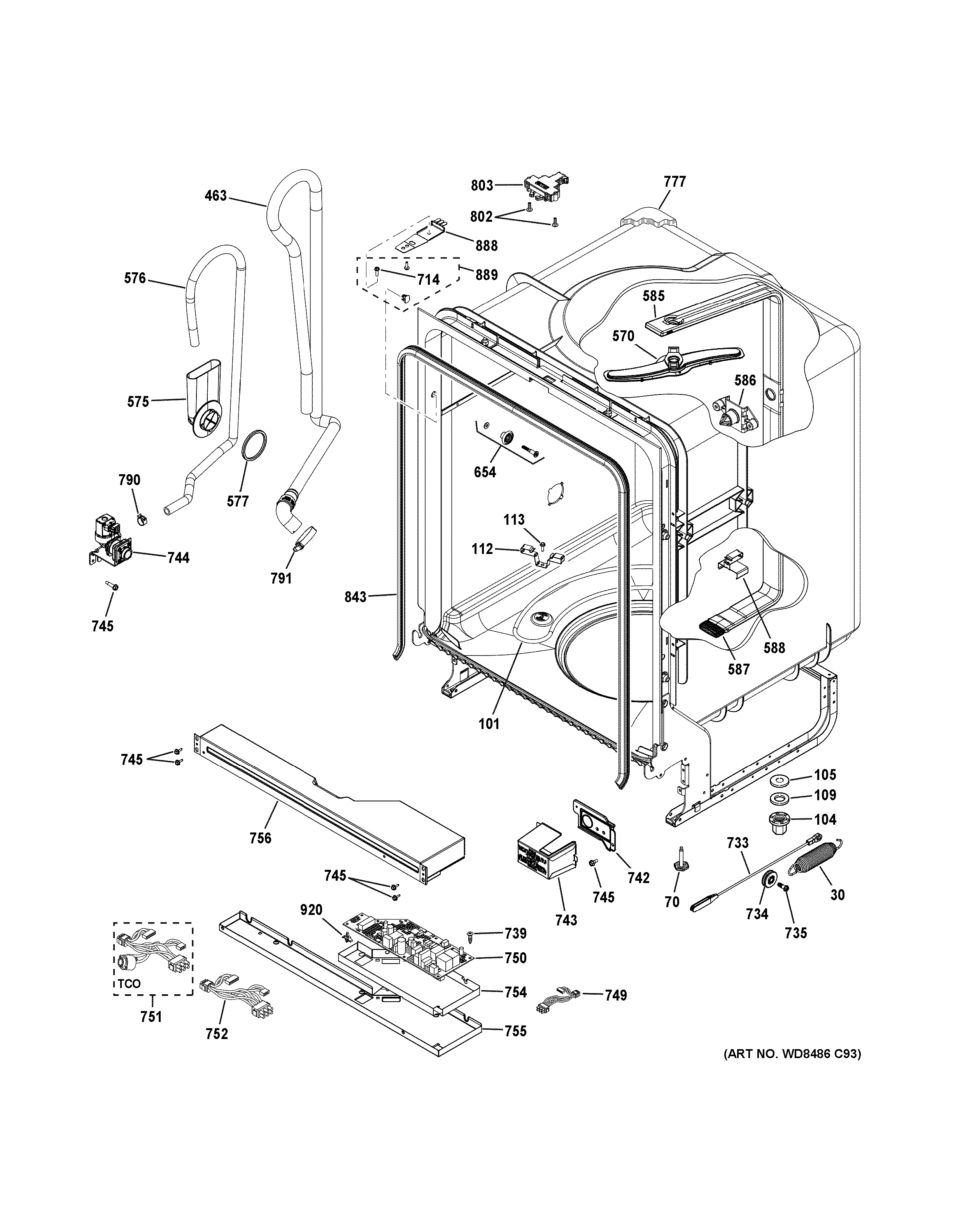 35 Asko Dishwasher Parts Diagram