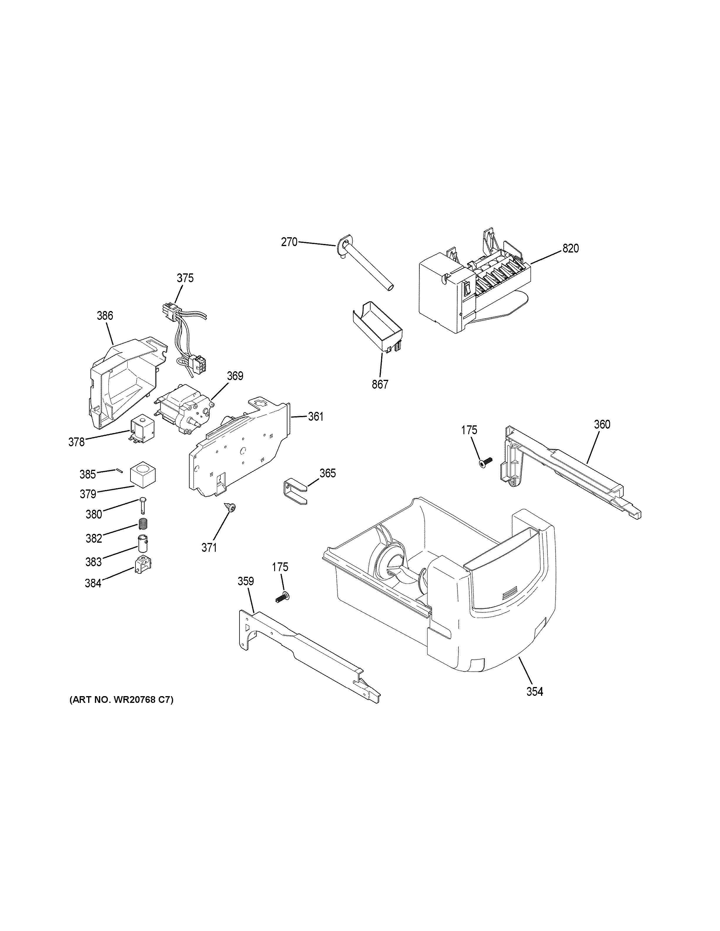 Assembly View For Ice Maker Amp Dispenser