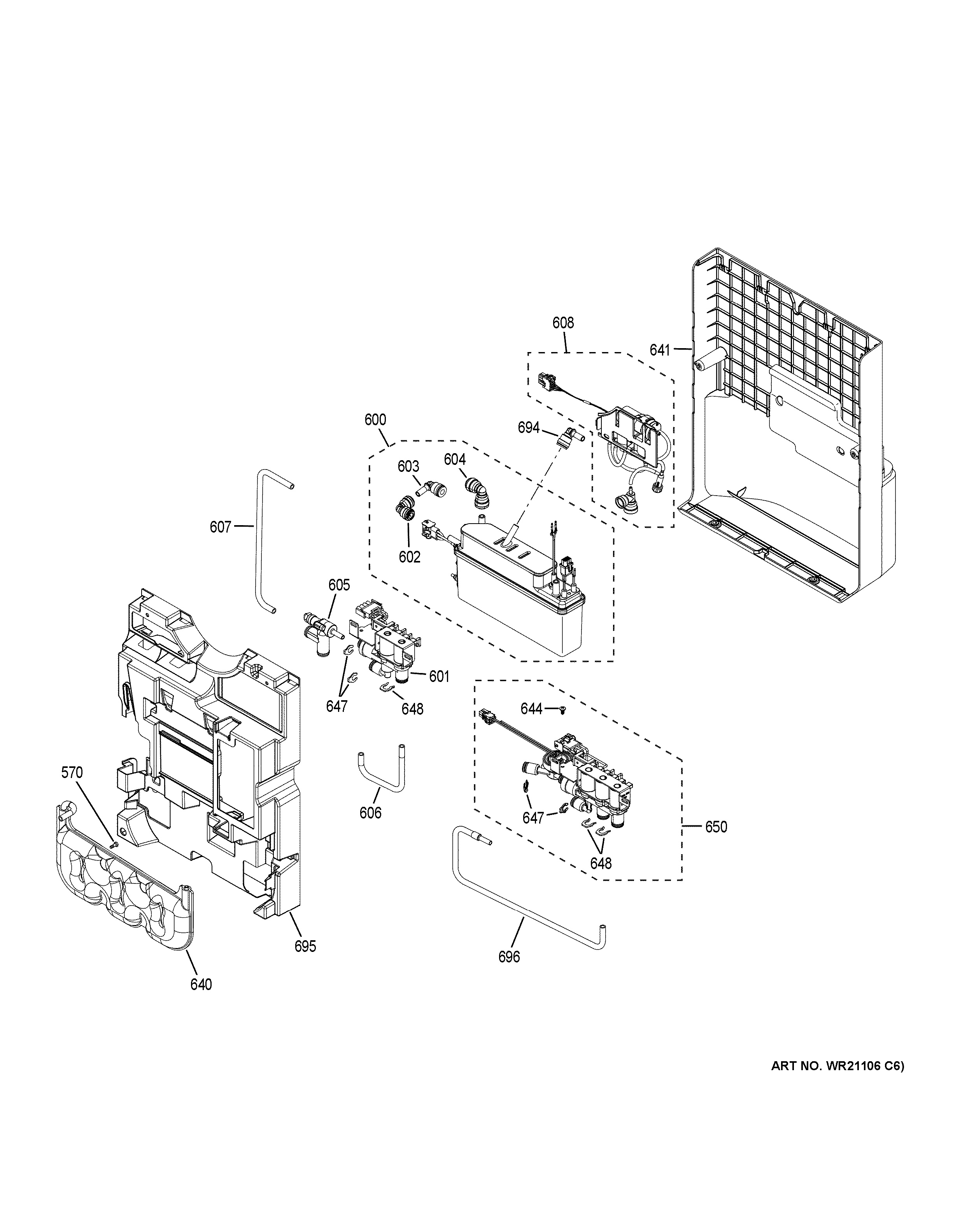 Assembly View For Beverage Dispenser