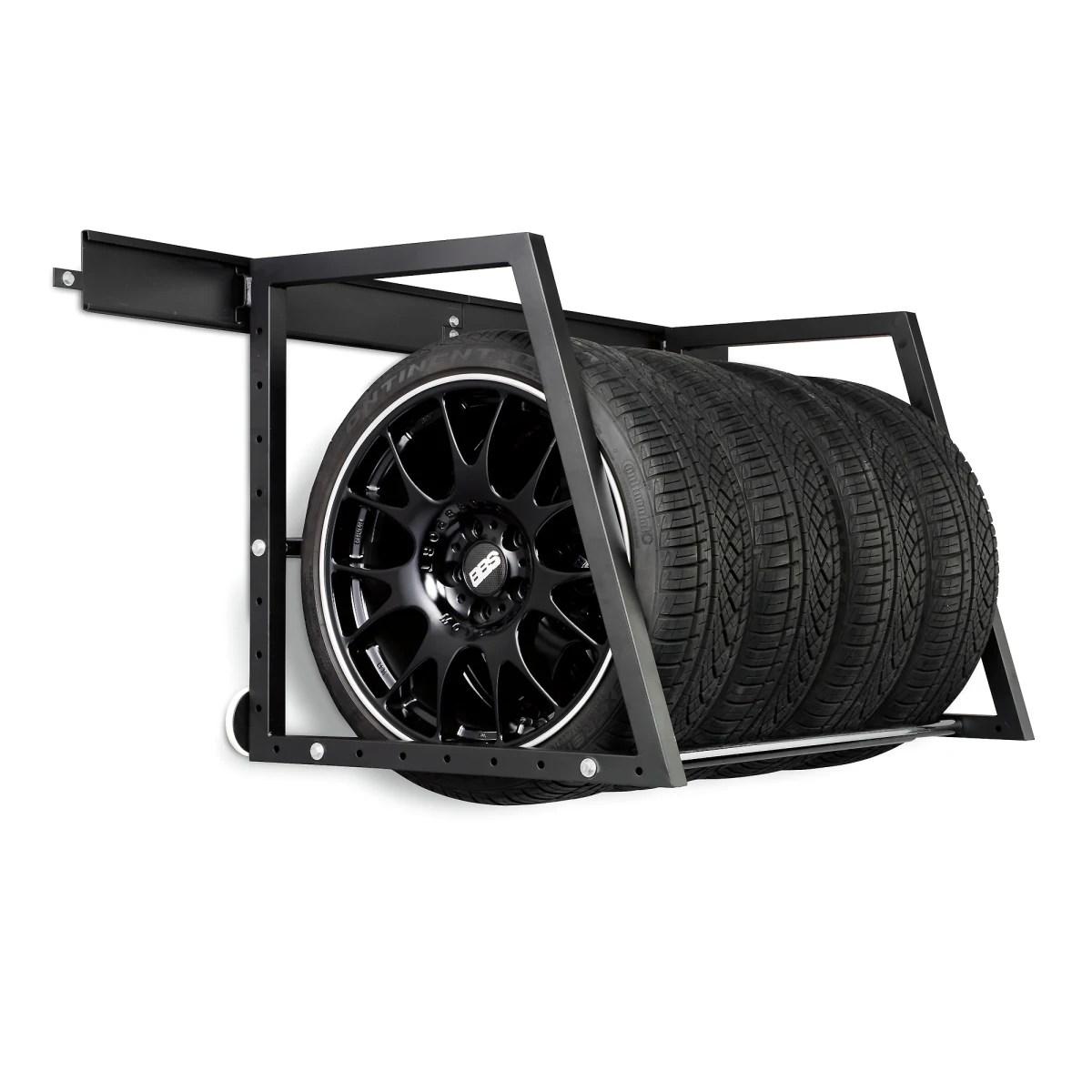 heavy duty wall mounted tire storage rack